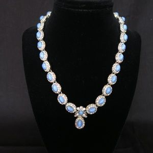Vintage St. John Blue Stones  and Crystal Necklace